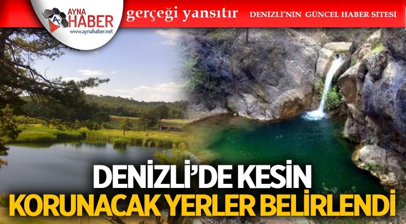 DENİZLİ'DE KESİN KORUNACAK YERLER BELİRLENDİ